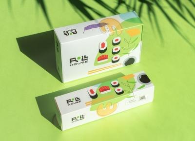清新的绿色!ROLL HOUSE快餐品牌和包装设计