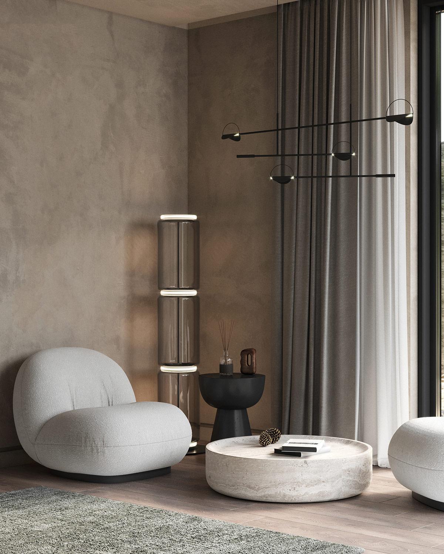 深灰色裝飾遇上迷人的銅色調