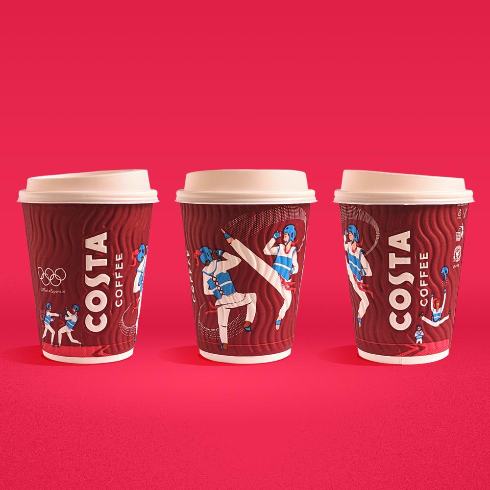 Costa 2020东京奥运会杯子包装设计