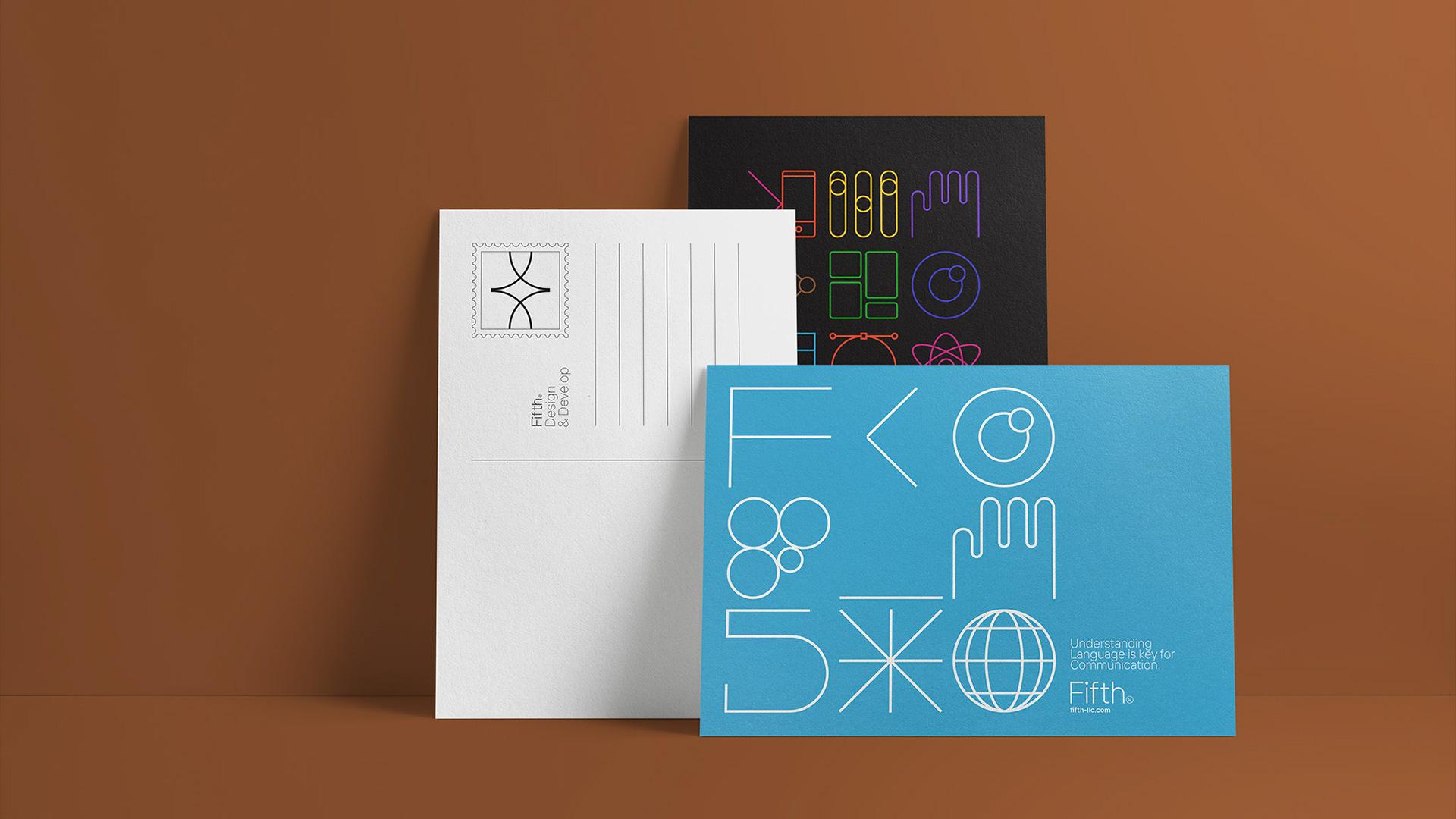 Fifth设计和软件开发公司品牌VI设计