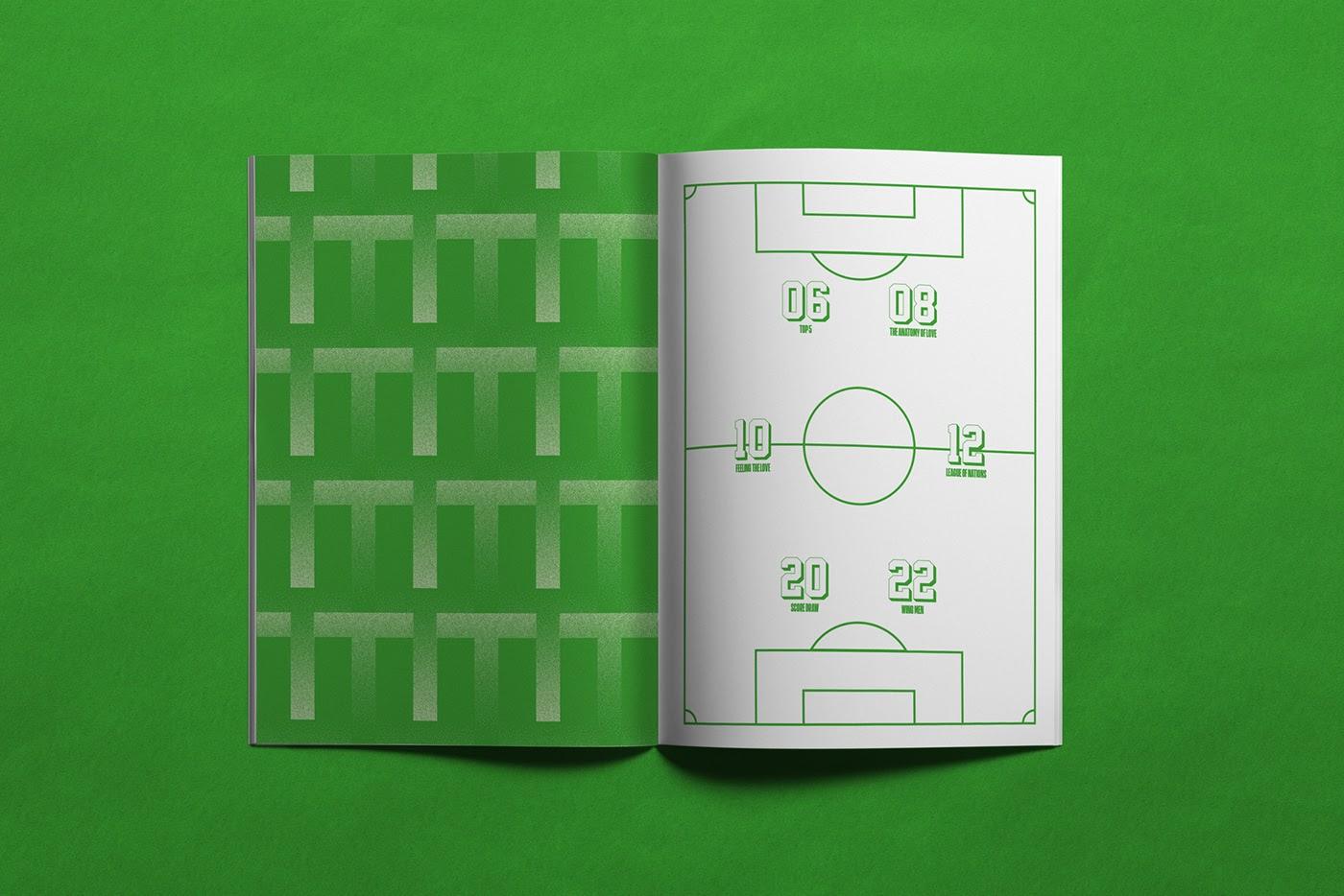 Top Corner足球杂志版式设计