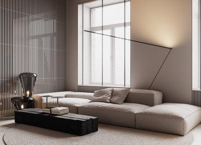 工业风的墙壁和开放式卧室设计!2间时尚现代