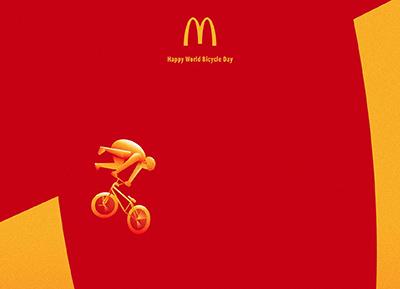 麦当劳广告欣赏:世界自行车日