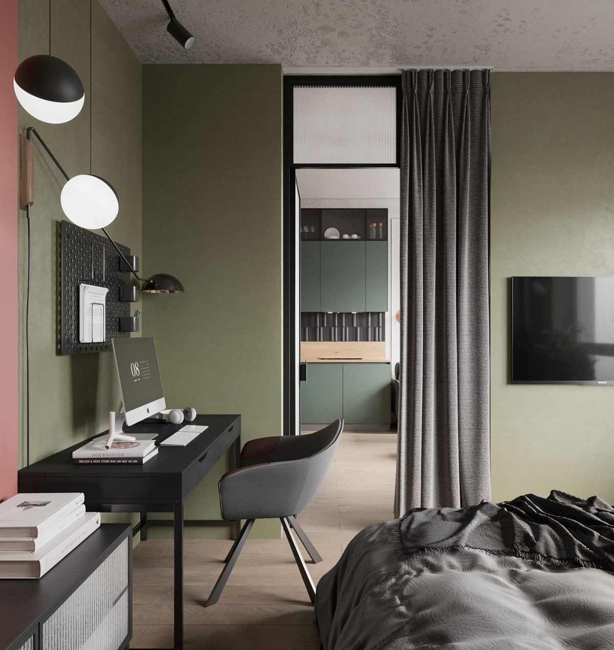 2間緊湊實用的45平小戶型公寓設計