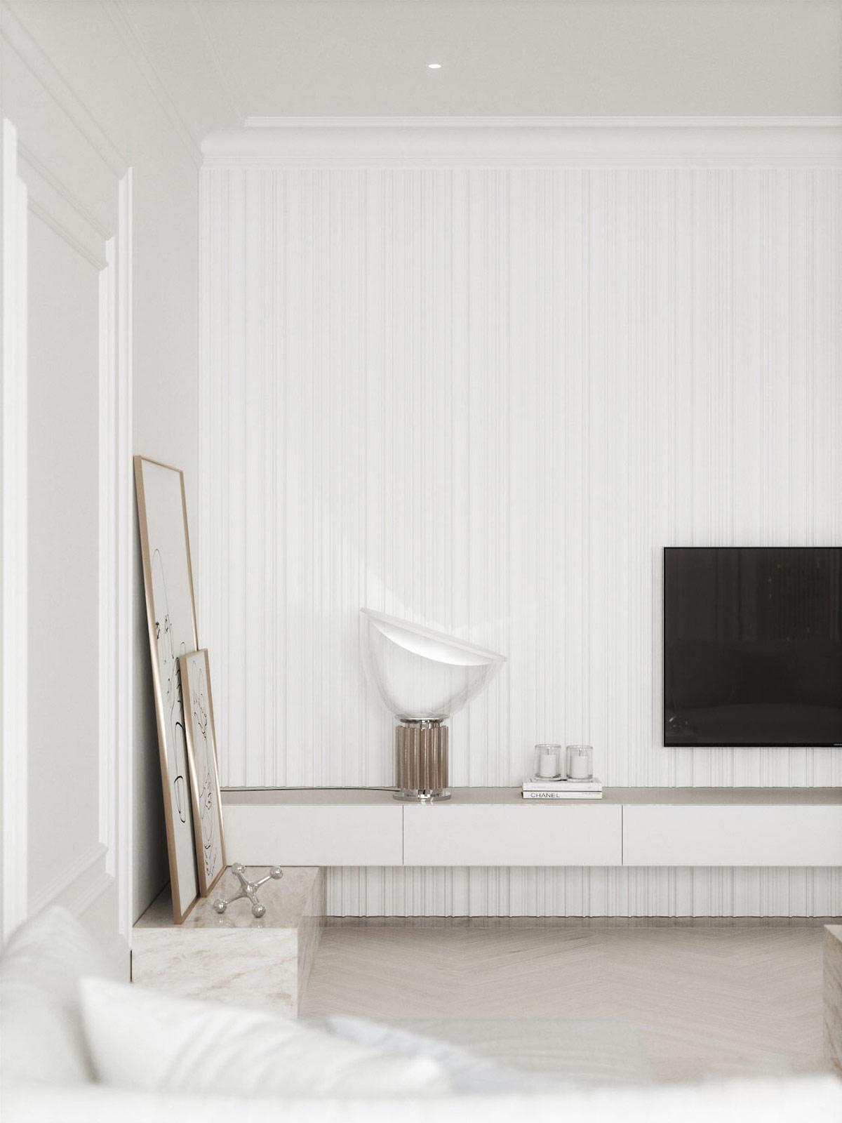 轻盈奢华! 87平白色精致的现代高端住宅w88手机官网平台首页