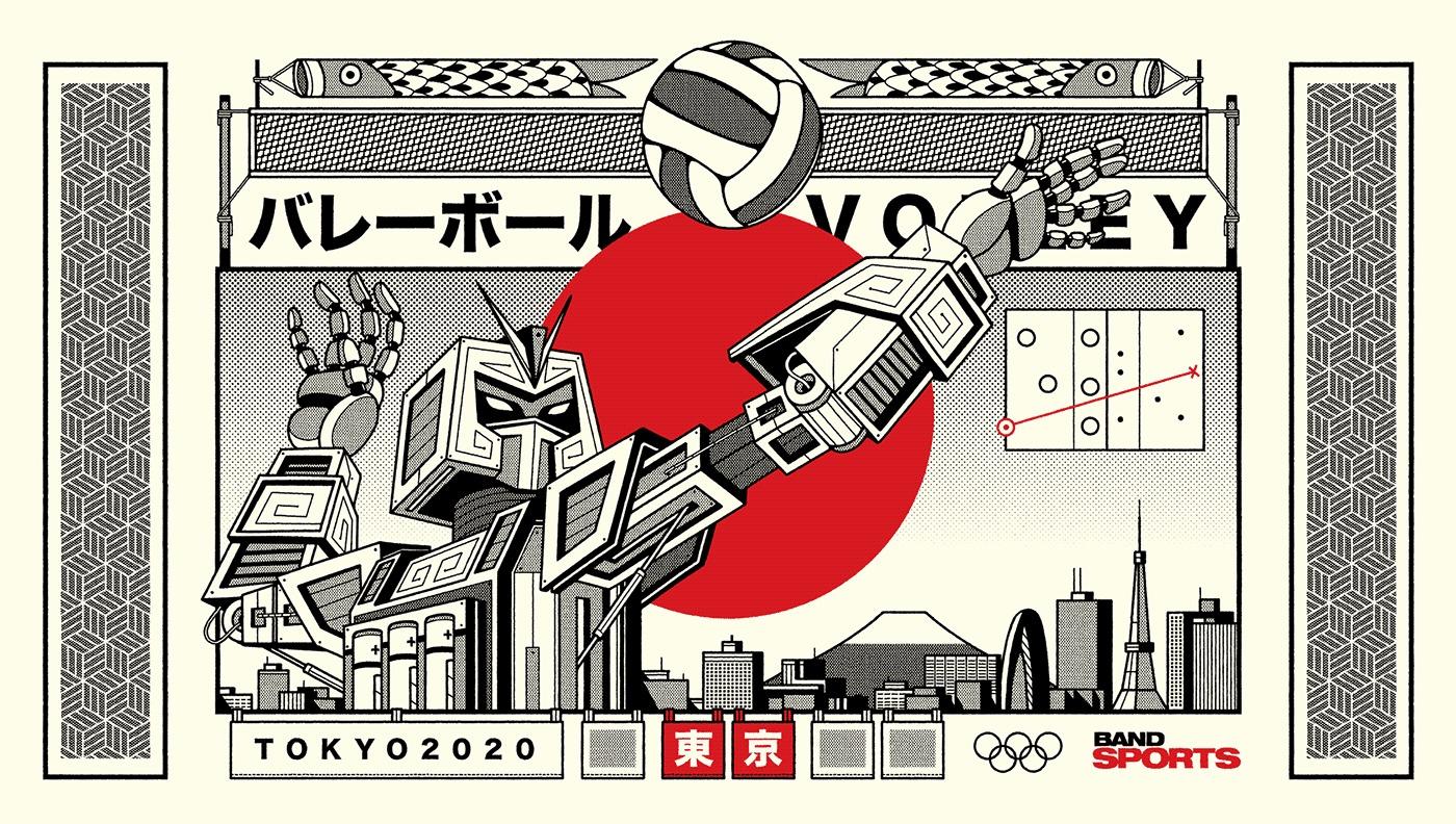 BandSports东京2020插画w88手机官网平台首页