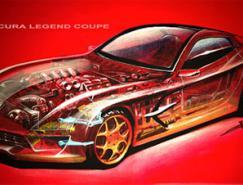 一组外国汽车设计