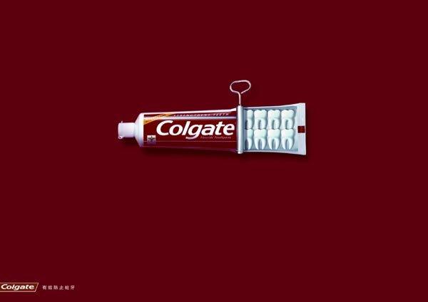 牙膏-高露洁平面广告