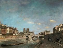 《塞纳河和巴黎圣母院》
