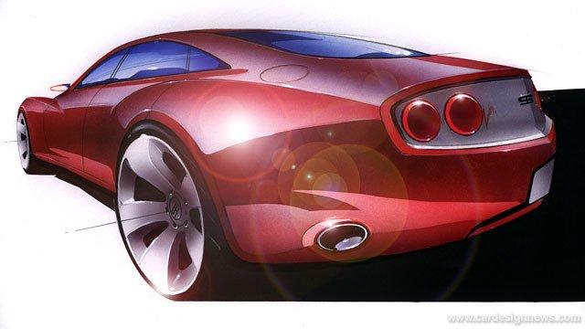 精彩汽车手绘作品欣赏(2)