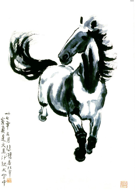 他熟悉了马的气质,马的结构