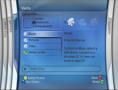 XBOX360游戲機用戶界面設計