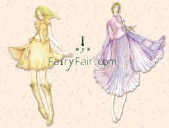 淑女屋服装插画设计