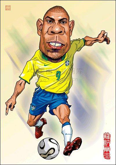 巴西足球队球星插画欣赏