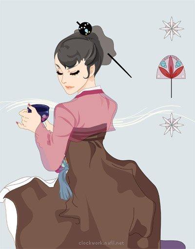 来自韩国nafil的时尚插画欣赏