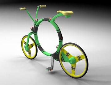 JosefCadek设计的可折叠自行车