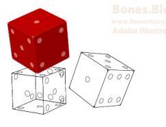 用IllustratorCS绘制精致立体骰子