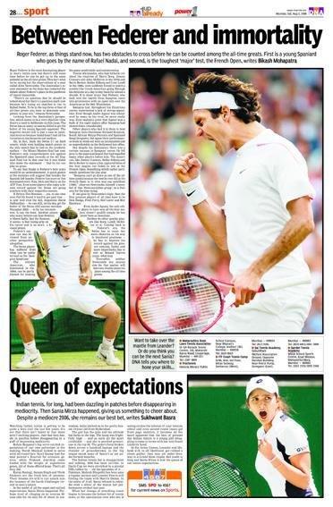 国外体育类报纸版面设计