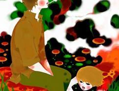 日本插画师minchi另类插画作品