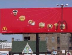 麦当劳超创意的户外广告
