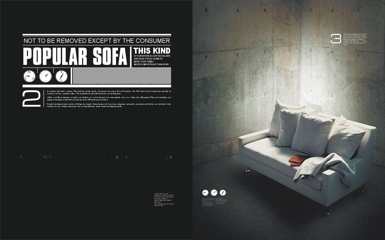 一本沙发画册设计欣赏