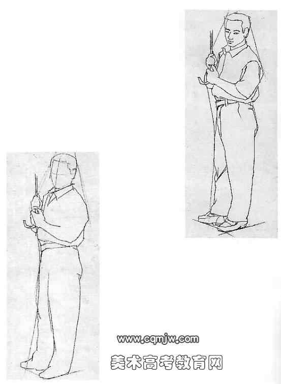人物动态速写的步骤(5)