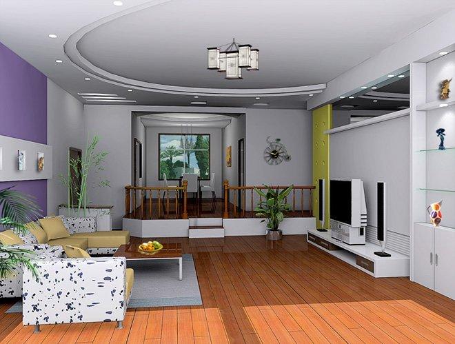 客厅电视墻效果图设计欣赏