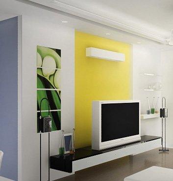 电视墙效果图设计