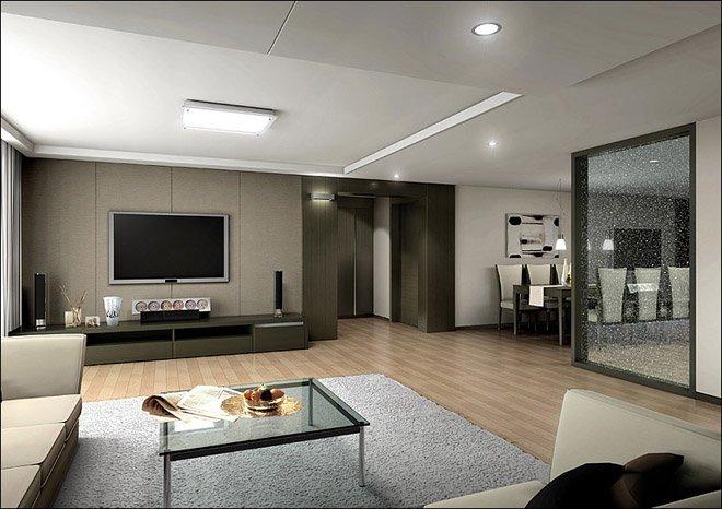 客厅电视墙效果图设计欣赏(8)