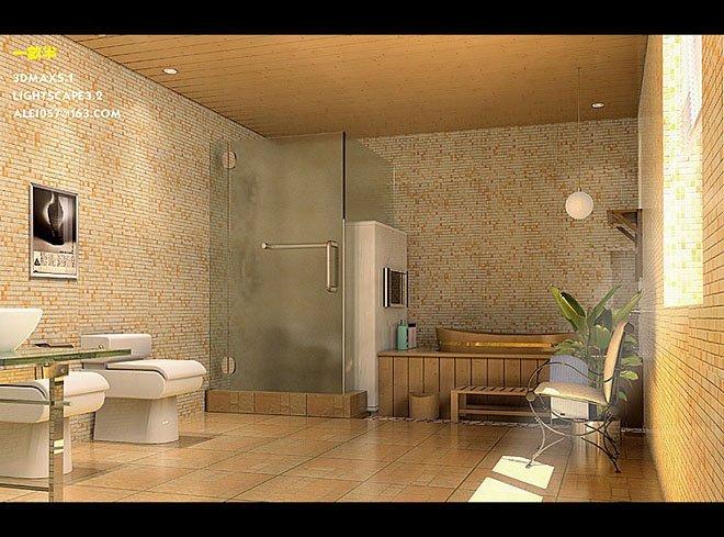 卫生间装修效果图欣赏(5)