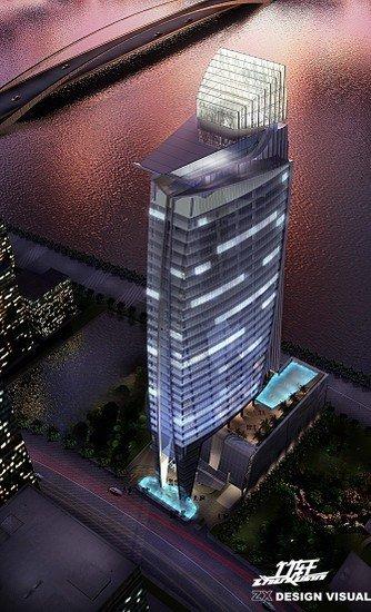 上海竹轩建筑效果图欣赏