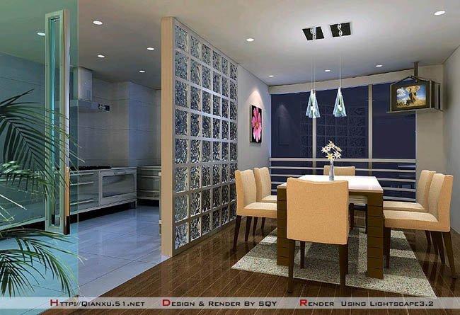 家装:餐厅效果图设计欣赏(二)