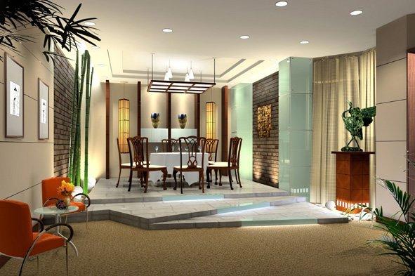酒店餐厅效果图欣赏(9) - 设计之家