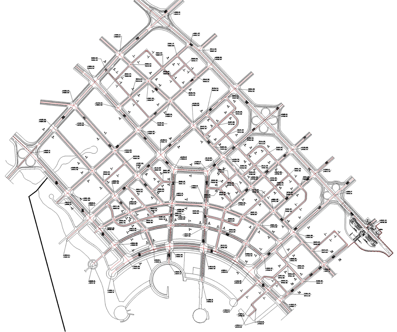地图 简笔画 手绘 线稿 2611_2184