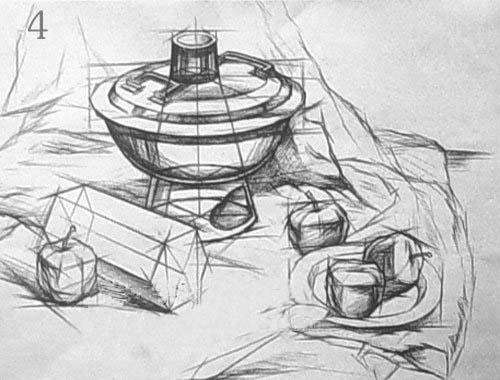 结构素描静物默画的表现方法与步骤 - 设计之家