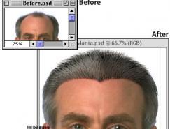 Photoshop绘制头发