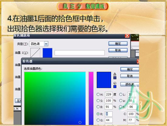 Photoshop调色教程:双色调灰度图