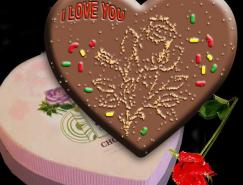 Photoshop打造情人节玫瑰巧克力