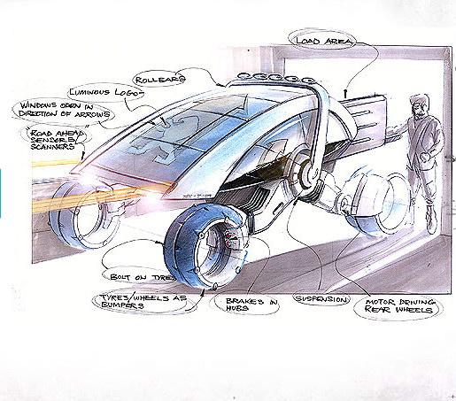 一组汽车设计手稿欣赏