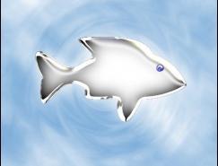 Photoshop打造质感金属小鱼