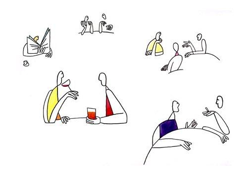 dana简洁个性的线条插画