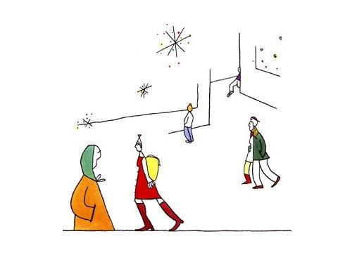 dana简洁个性的线条插画(3)