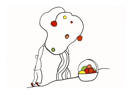 dana简洁个性的线条插画(2)