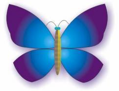 Coreldraw造型工具与交互设置画蝴蝶