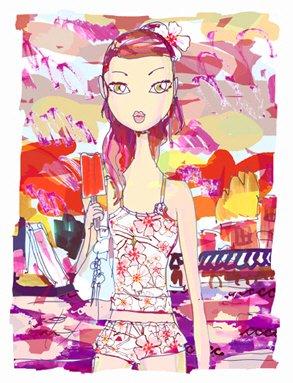 Jeffrey时尚女孩插画