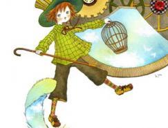 日本HIRO可爱男孩女孩插画作品