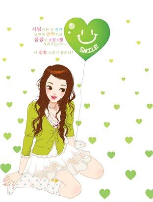 韩国toonsa可爱女孩插画(2)