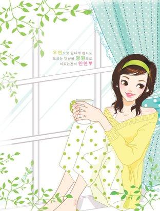 韩国toonsa可爱女孩插画