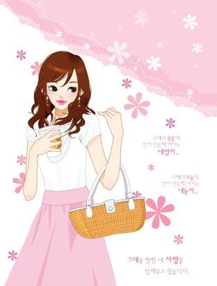 韩国toonsa可爱女孩插画(4)