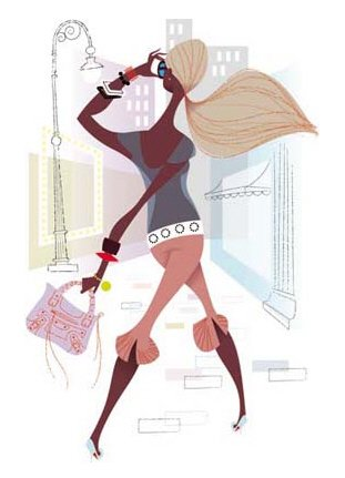Kirsten时尚女性插画欣赏